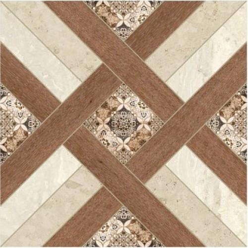 Фьюжн Плитка напольная на белом коричневая ПГ3ФЖ004 41,8х41,8
