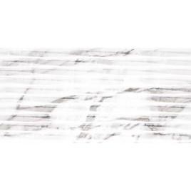 Carrara White Lined Shine плитка настенная структ. 30x60