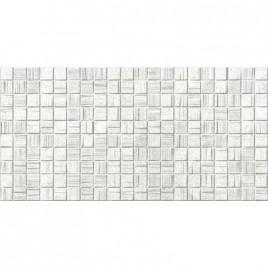 Мегаполис светло-серая мозайка 25х50 (1,25м2/67,5м2) плитка настенная