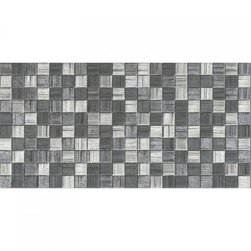 Мегаполис темно-серая мозайка 25х50 (1,25м2/67,5м2) плитка настенная