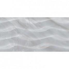 Плитка настенная Lazurro светло-серый рельеф 30х60
