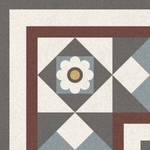 Декор Longo multi многоцветный 01 20х20 (22шт)