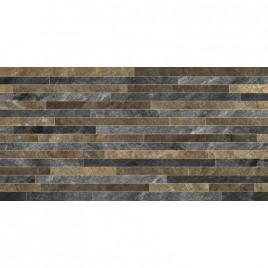 Керамогранит Монтана 2Д серо-коричневые полоски