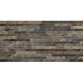 Монтана 2Д Керамогранит серо-коричневые полоски 30х60