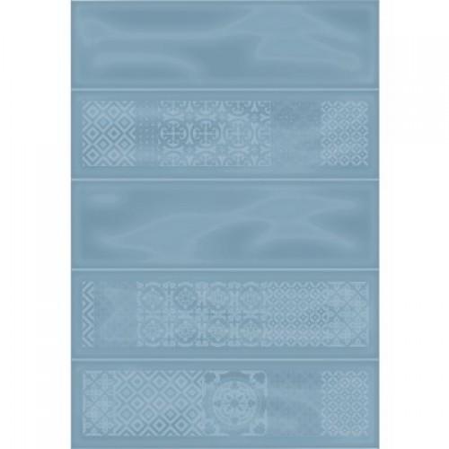 Плитка настенная Метро 2Д синий декор