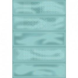 Плитка настенная Метро 4Д зеленый декор