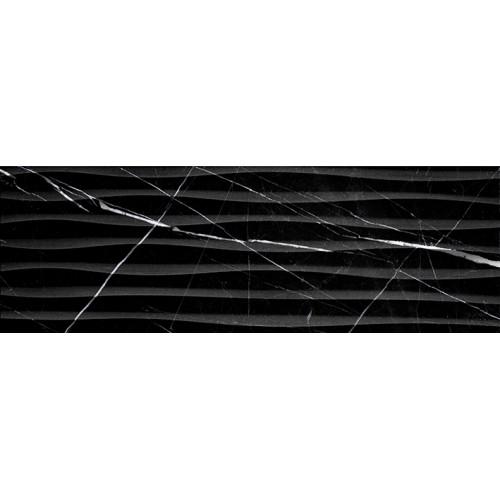 Миланезе дизайн Плитка настенная неро волна 1064-0166 20х60