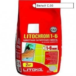 Затирка LITOCHROM 1-6 С.00 белая 2 кг