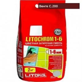 Затирка LITOCHROM 1-6 С.200 венге 2кг