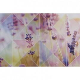 Плитка настенная Лаванда многоцветный верх 01 микс